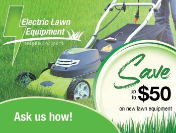 Electric Lawn Rebate Ad