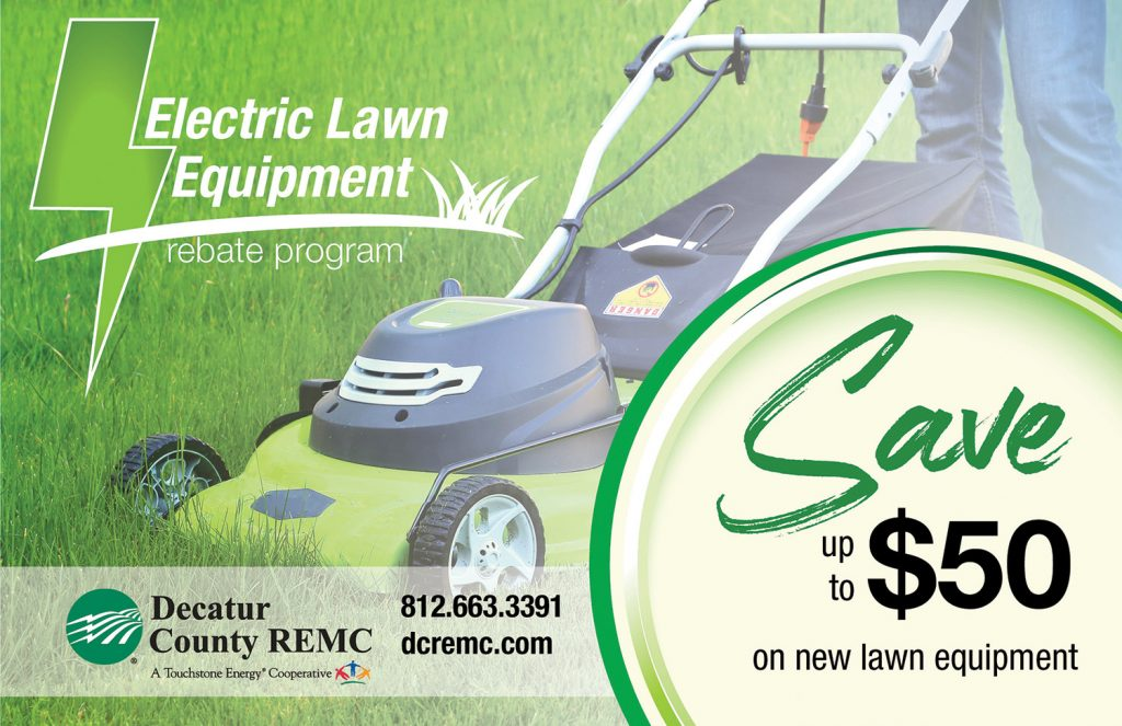 Decatur Electric Lawn Equipment Rebate Ad