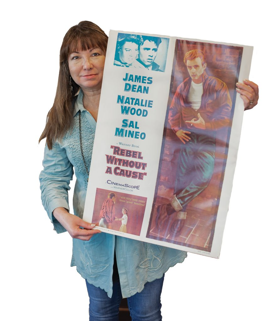 Emily with James Dean poster