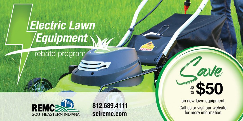 Lawn equpment rebate ad