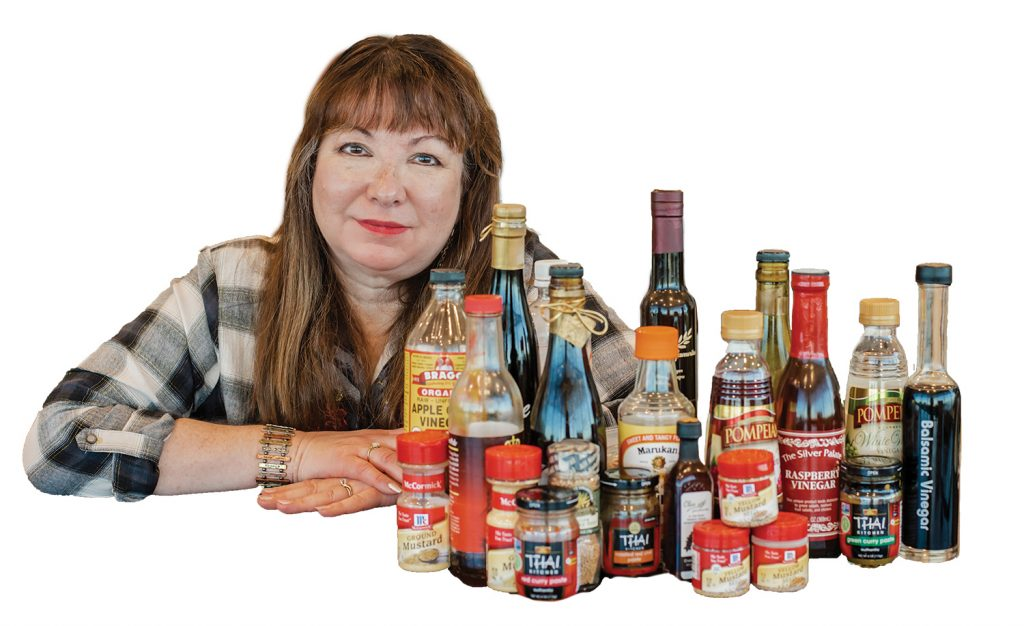 Emily with spices