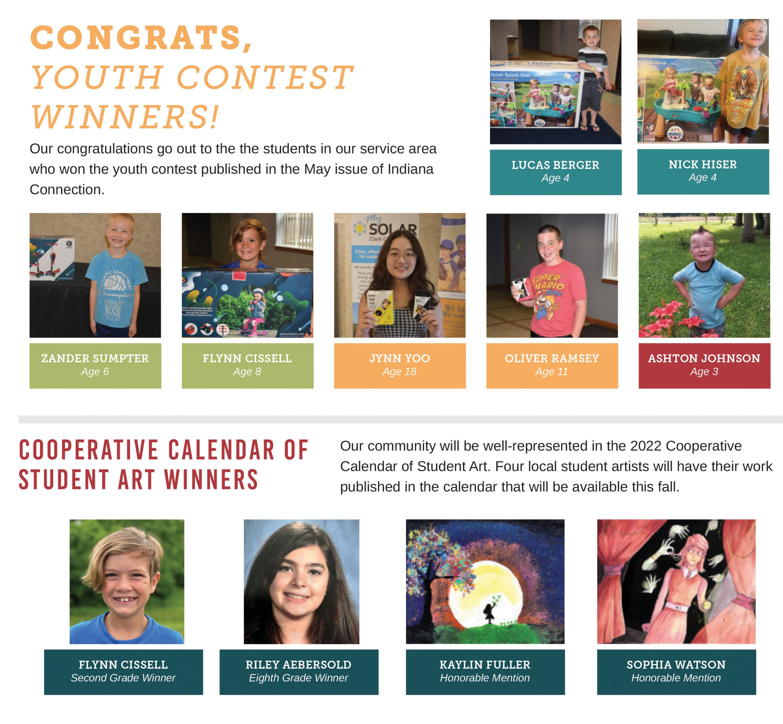 Youth Contest Winners Collage
