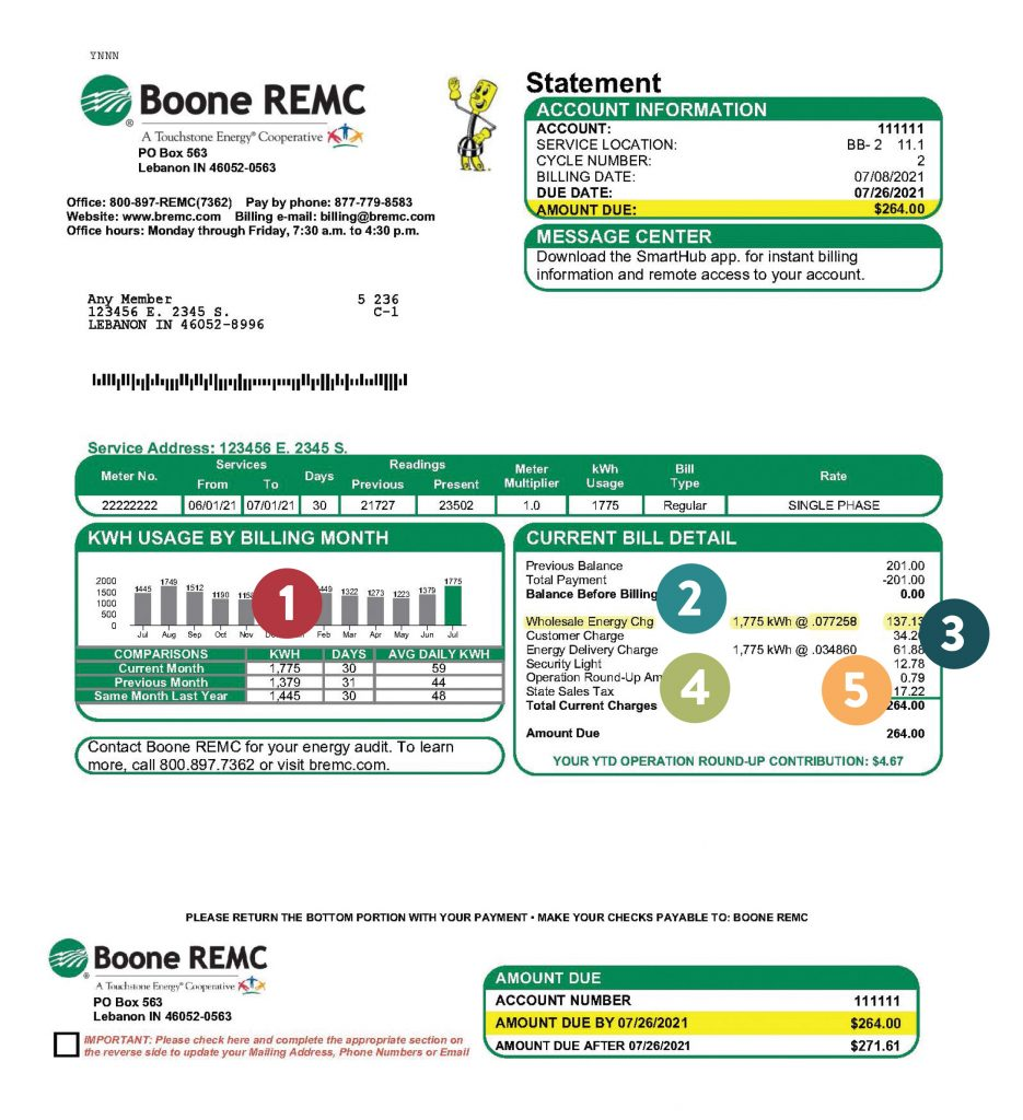 Monthly Boone Bill