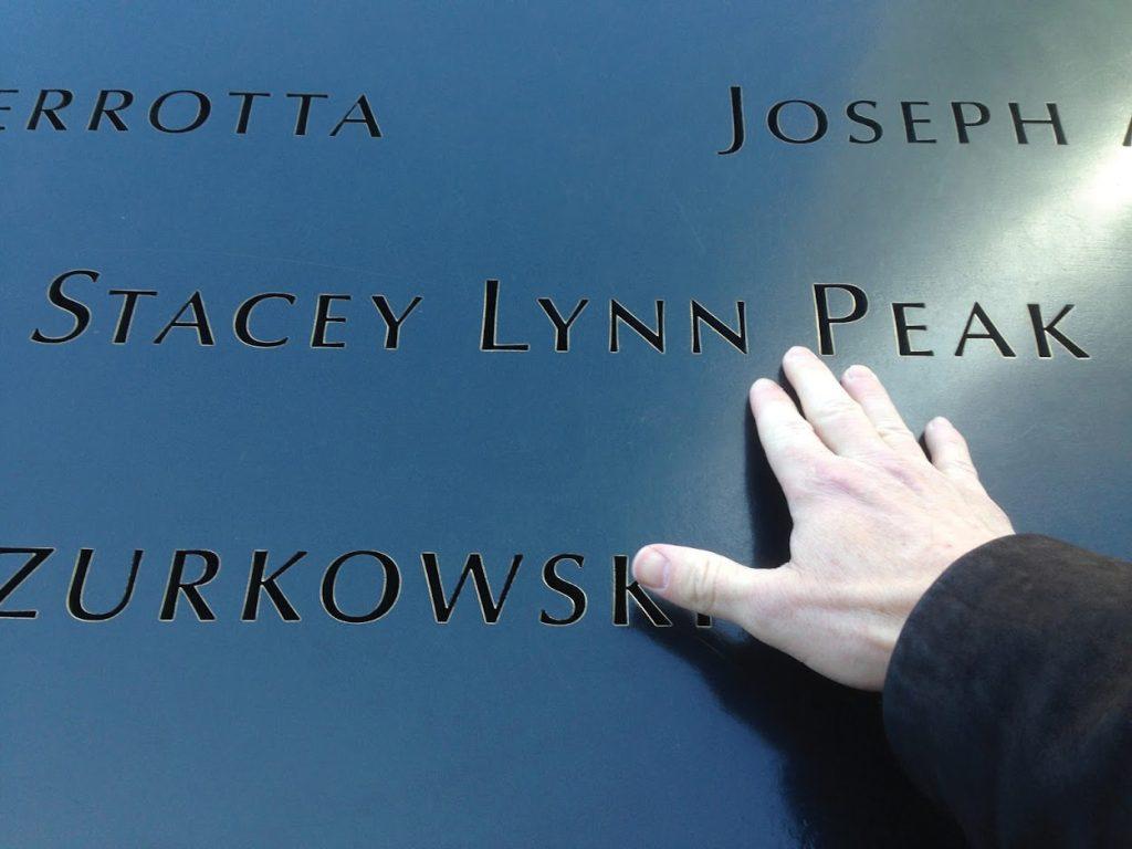 Stacey Peak name at 9/11 memorial