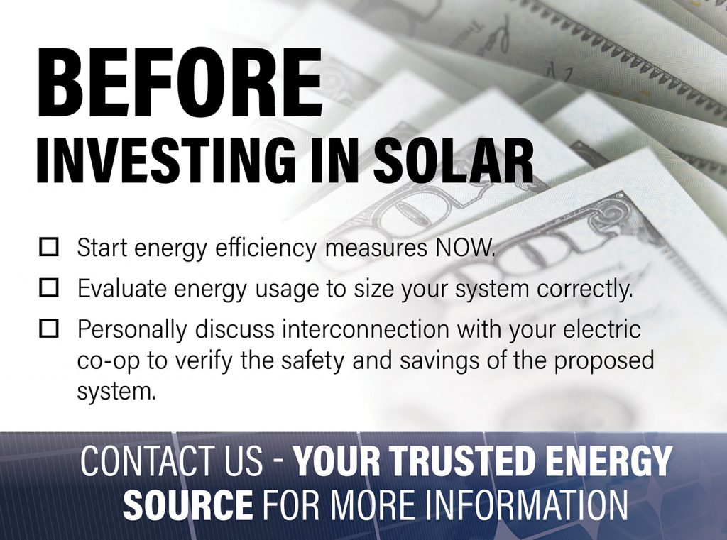 Before Investing in Solar infographic