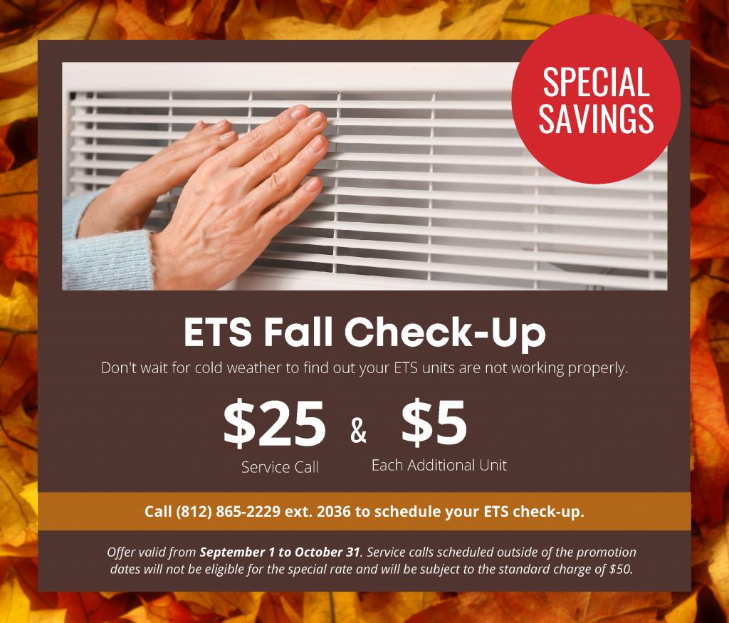 ETS Fall Check-up Ad