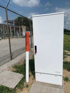 ptical Cross-Connect cabinet.