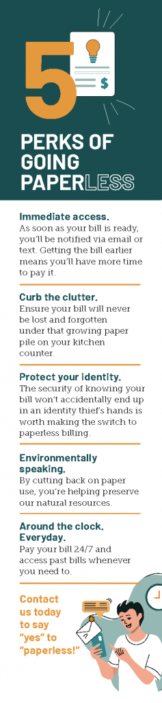 5 perks of going paperless infographic