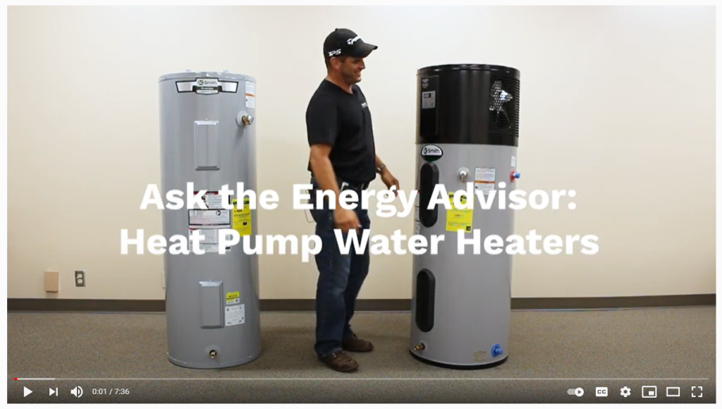Water heater photo with Brian Hawk
